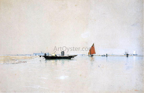 William Stanley Haseltine Venetian Lagoon - Hand Painted Oil Painting