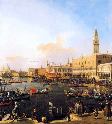 Canaletto Venice, Bacino di San Marco on Ascension Day - Hand Painted Oil Painting