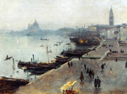 John Singer Sargent Venice in Gray Weather - Hand Painted Oil Painting