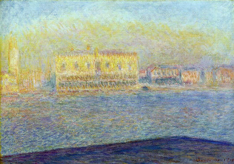 Claude Oscar Monet Venice, The Doges' Palace Seen from San Giorgio Maggiore - Hand Painted Oil Painting