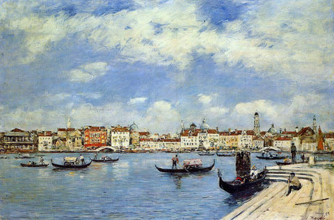 Eugene-Louis Boudin Venice, View from San Giorgio - Hand Painted Oil Painting