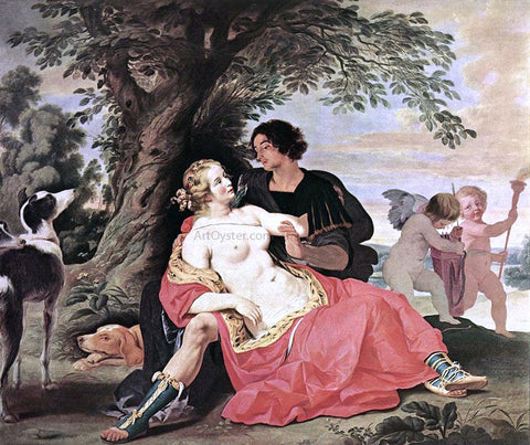 Abraham Janssens Venus and Adonis - Hand Painted Oil Painting