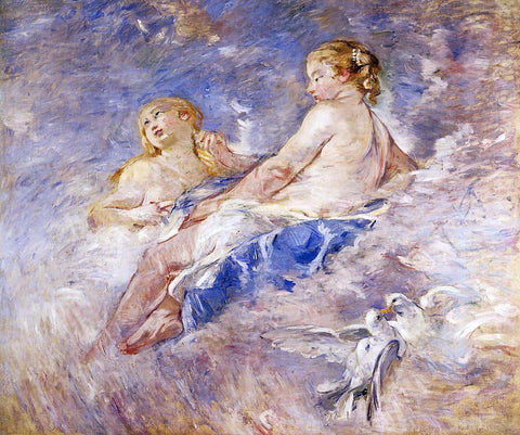 Berthe Morisot Venus at the Forge of Vulcan (after Boucher) - Hand Painted Oil Painting