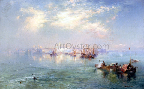 Thomas Moran Vera Cruz Harbor, Mexico - Hand Painted Oil Painting