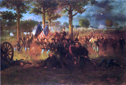 Julian Scott Vermont Division at The Battle of Chancellorsville - Hand Painted Oil Painting