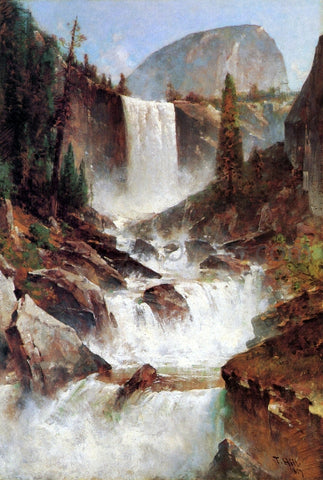 Thomas Hill Vernal Falls, Yosemite - Hand Painted Oil Painting