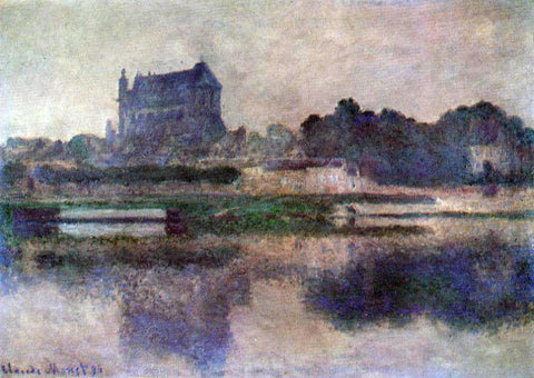 Claude Oscar Monet Vernon Church in Grey Weather - Hand Painted Oil Painting