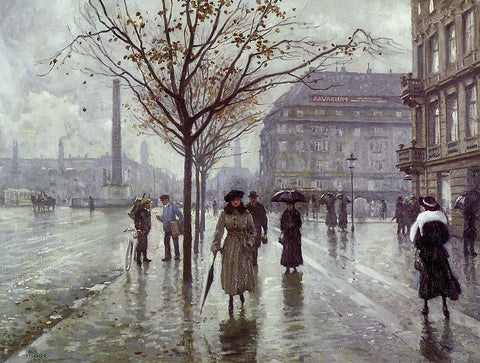 Paul-Gustave Fischer Vesterbrogade - Hand Painted Oil Painting