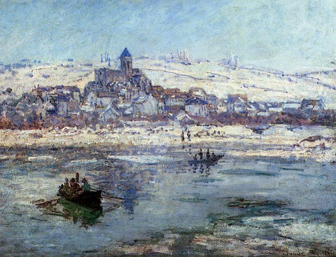 Claude Oscar Monet Vetheuil in Winter - Hand Painted Oil Painting