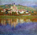 Claude Oscar Monet Vetheuil, Pink Effect - Hand Painted Oil Painting