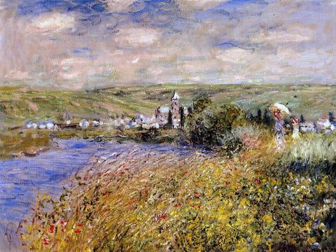 Claude Oscar Monet Vetheuil Seen from Ile Saint Martin - Hand Painted Oil Painting