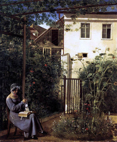 Erasmus Engert Viennese Domestic Garden - Hand Painted Oil Painting