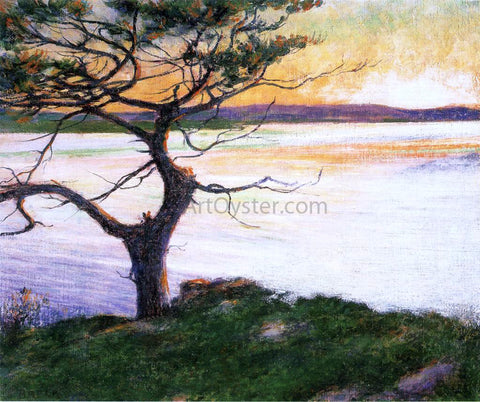 John Leslie Breck View Across Ipswich Bay, Near Cambridge Beach - Hand Painted Oil Painting