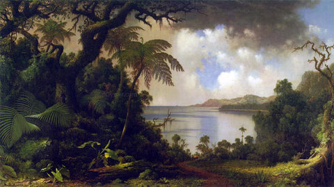 Martin Johnson Heade View from Fern Tree Walk, Jamaica - Hand Painted Oil Painting