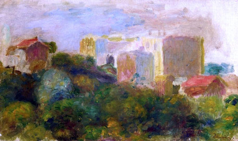 Pierre Auguste Renoir View from Renoir's Garden in Montmartre - Hand Painted Oil Painting