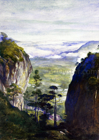 John La Farge View in Ceylon, near Dambulla, Looking Down Over Rice-Fields - Hand Painted Oil Painting