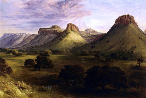 Henry Cheever Pratt View in the Canyon of the Coppermines, Santa Rita, New Mexico - Hand Painted Oil Painting