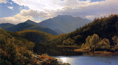 "William Trost Richards View in the White Mountains (also known as ""The High Peaks,"" Adirondacks) - Hand Painted Oil Painting"