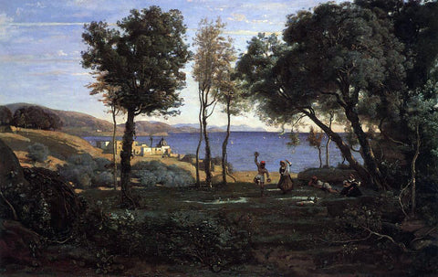 Jean-Baptiste-Camille Corot View near Naples - Hand Painted Oil Painting