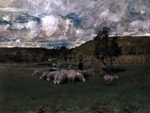 William Merritt Chase View near Polling (also known as Landscape with Sheep) - Hand Painted Oil Painting