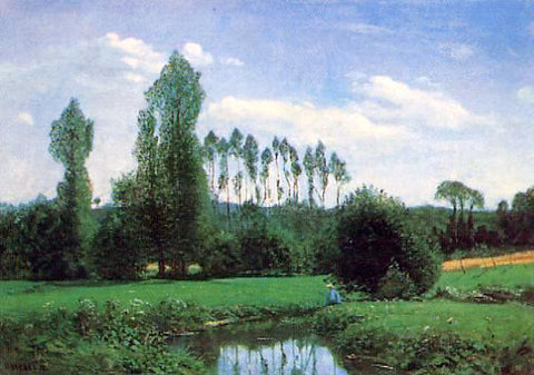 Claude Oscar Monet View near Rouelles - Hand Painted Oil Painting
