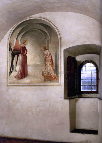Fra Angelico View of a cell (Convento di San Marco, Florence) - Hand Painted Oil Painting