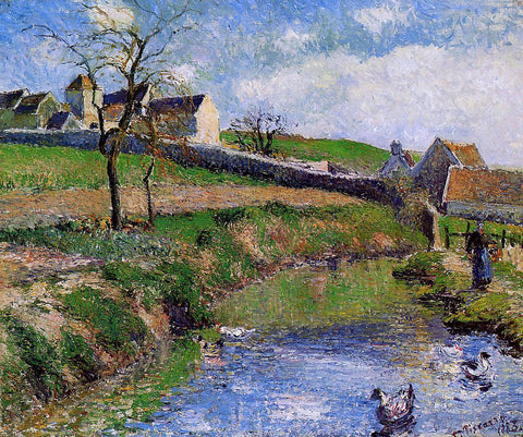 Camille Pissarro View of a Farm in Osny - Hand Painted Oil Painting