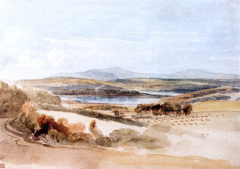 William Leighton Leitch View Of A Loch And Mountains, Kirkcudbrightshire - Hand Painted Oil Painting
