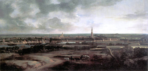 Mathias Withoos View of Amersfoort - Hand Painted Oil Painting