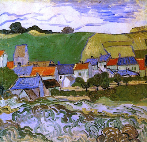 Vincent Van Gogh View of Auvers - Hand Painted Oil Painting