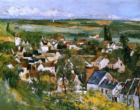 Paul Cezanne View of Auvers-sur-Oise - Hand Painted Oil Painting