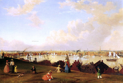 Fitz Hugh Lane View of Baltimore - Hand Painted Oil Painting