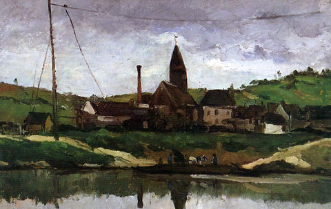 Paul Cezanne View of Bonnieres - Hand Painted Oil Painting