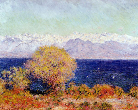 Claude Oscar Monet View of Antibes from the Plateau Notre-Dame - Hand Painted Oil Painting