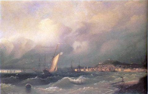 Ivan Constantinovich Aivazovsky View of Feodosiya - Hand Painted Oil Painting