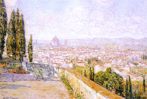 Frederick Childe Hassam View of Florence from San Miniato - Hand Painted Oil Painting