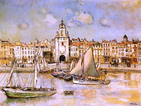 Jean-Francois Raffaelli View of La Rochelle - Hand Painted Oil Painting
