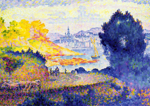 Henri Edmond Cross View of Menton - Hand Painted Oil Painting