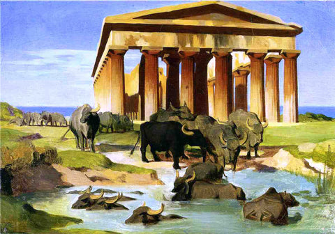 Jean-Leon Gerome View of Paestum (study) - Hand Painted Oil Painting
