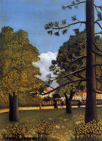 Henri Rousseau View of Parc de Montsouris - Hand Painted Oil Painting
