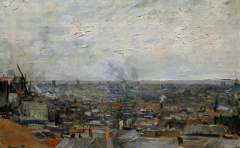 Vincent Van Gogh View of Paris from Montmartre - Hand Painted Oil Painting