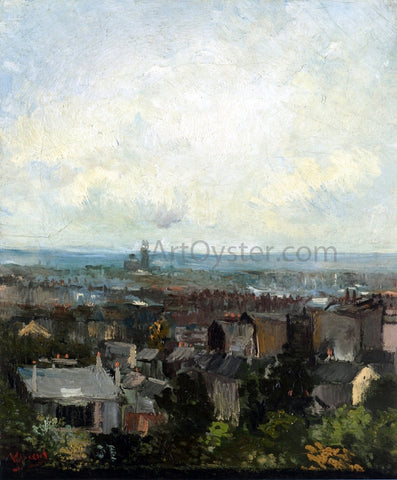 Vincent Van Gogh View of Paris from near Montmartre - Hand Painted Oil Painting