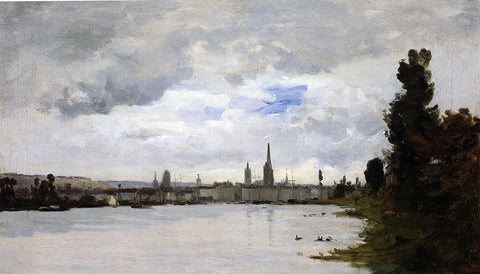Charles Lapostolet View of Rouen - Hand Painted Oil Painting