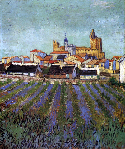 Vincent Van Gogh View of Saintes-Maries - Hand Painted Oil Painting