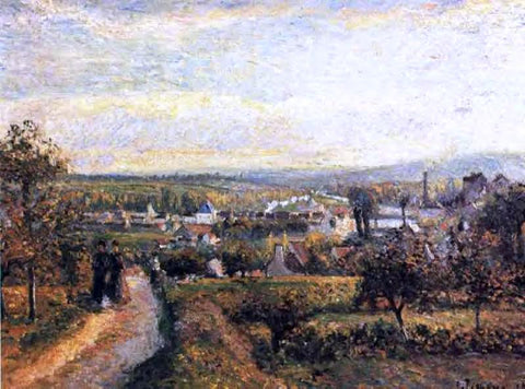 Camille Pissarro View of Saint-Ouen-l'Aumone - Hand Painted Oil Painting