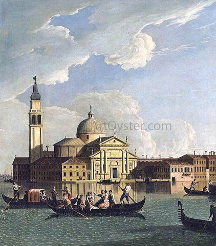 Johan Richter View of San Giorgio Maggiore, Venice - Hand Painted Oil Painting