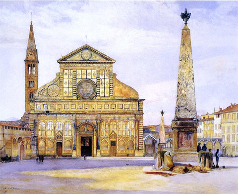 Henry Roderick Newman A View of Santa Maria Novella - Hand Painted Oil Painting