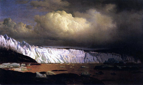 William Bradford View of Sermitsialik Glacier - Hand Painted Oil Painting