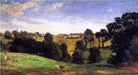 Jasper Francis Cropsey View of Stifford - Hand Painted Oil Painting