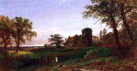 Jasper Francis Cropsey View of Stoke Poges - Hand Painted Oil Painting